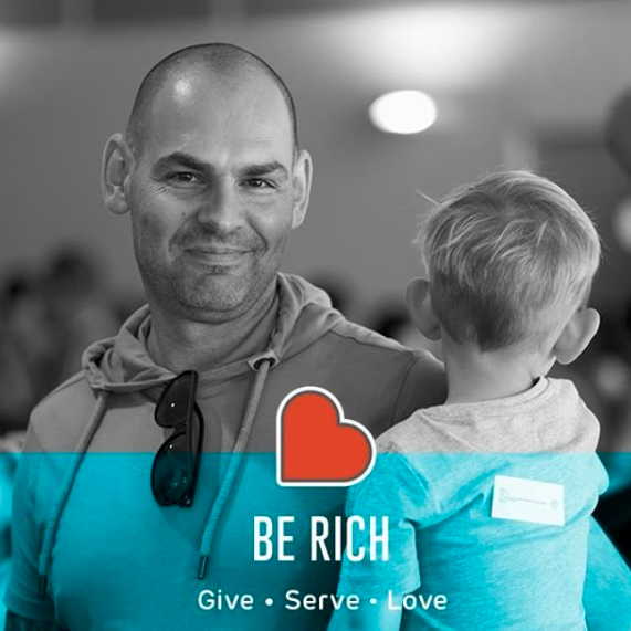 therocksperth Command them to do good, to be rich in good deeds, and to be generous and willing to share. 1 Timothy 6:18 #BeRich18 #GiveServeLove #therocksberich #therocksperth