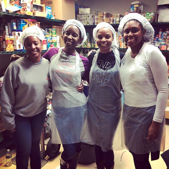 "iamlorenbray ""When someone has been given much, much will be required in return; and when someone has been entrusted with much, even more will be required."" Luke‬ ‭12:48‬ ‭NLT ? ‬‬Volunteered at the Atlanta Mission with my Small Group sisters last Thursday; giving back a little of what God has given us.... #BeRich #GiveServeLove #BuckheadChurch"